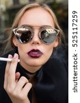 close up fashion portrait of...   Shutterstock . vector #525117259