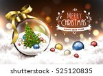 merry christmas and happy new... | Shutterstock .eps vector #525120835