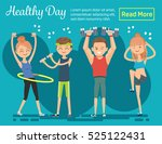 healthy day. poster invites... | Shutterstock .eps vector #525122431