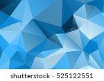 blue modern geometrical... | Shutterstock .eps vector #525122551