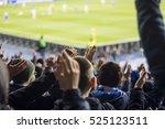 hand fans who clap their hands... | Shutterstock . vector #525123511