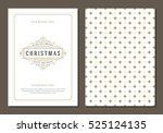 christmas greeting card or... | Shutterstock .eps vector #525124135