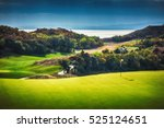 golf course in the countryside | Shutterstock . vector #525124651