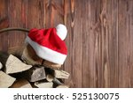 Basket With Firewood And Santa...
