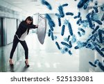 3d rendering attack of bacteria | Shutterstock . vector #525133081