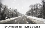 blurred winter asphalt road   | Shutterstock . vector #525134365