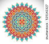 vector indian mandala | Shutterstock .eps vector #525142327