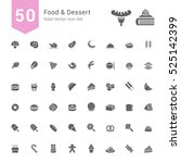 food and dessert icon set. 50... | Shutterstock .eps vector #525142399