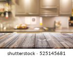 empty wooden table and blurred...   Shutterstock . vector #525145681