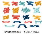 vector set of different flat... | Shutterstock .eps vector #525147061