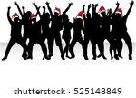 dancing people. christmas... | Shutterstock .eps vector #525148849