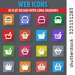 shopping bascket web icons in... | Shutterstock .eps vector #525151285