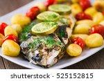 grilled sea bream | Shutterstock . vector #525152815