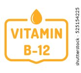 vitamin b 12. badge  icon  logo ... | Shutterstock .eps vector #525154225
