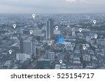 searching location on map and... | Shutterstock . vector #525154717