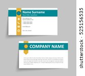modern simple business card set ... | Shutterstock .eps vector #525156535