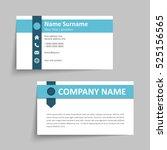 modern simple business card set ... | Shutterstock .eps vector #525156565
