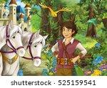 cartoon happy and funny scene... | Shutterstock . vector #525159541