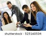 businessman looking at... | Shutterstock . vector #525160534