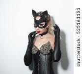 beautiful dominant blonde vamp...   Shutterstock . vector #525161131