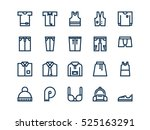 clothes. set of outline vector... | Shutterstock .eps vector #525163291