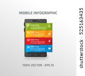 infographic vector template for ... | Shutterstock .eps vector #525163435