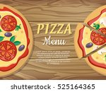 pizza menu web banner. pizza... | Shutterstock .eps vector #525164365