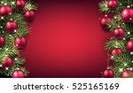 new year pink background with... | Shutterstock .eps vector #525165169