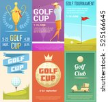 golf club advertisement retro...   Shutterstock .eps vector #525166645