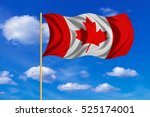 canadian national official flag.... | Shutterstock . vector #525174001