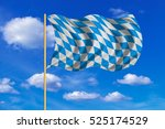 bavarian official flag  symbol  ... | Shutterstock . vector #525174529