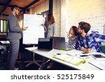 woman making a business...   Shutterstock . vector #525175849
