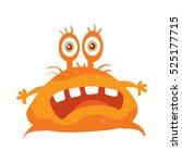 Bacteria Cartoon Character Wit...