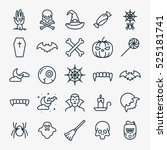 halloween icons minimalistic... | Shutterstock .eps vector #525181741