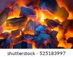 Burning Charcoal Background...