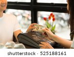 young man paying 100 dollar... | Shutterstock . vector #525188161