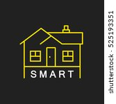 logo or label smart house. line ... | Shutterstock .eps vector #525193351