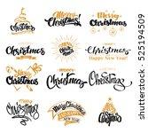 merry christmas lettering... | Shutterstock .eps vector #525194509