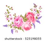 spring flowers bouquet of color ... | Shutterstock .eps vector #525198055