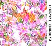 Pastel Floral Pattern Tropical...