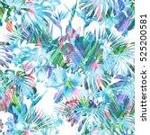 elegance floral pattern on a... | Shutterstock . vector #525200581