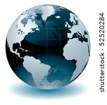 world globe vector illustration | Shutterstock .eps vector #52520284