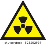 nuclear radiation symbol  ... | Shutterstock .eps vector #525202939