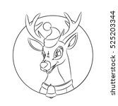 children coloring pages with... | Shutterstock .eps vector #525203344