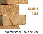 stack of wooden 2x4s on white... | Shutterstock . vector #52520335