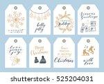 vector big collection of hand... | Shutterstock .eps vector #525204031
