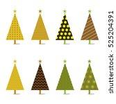 christmas tree icon illustration | Shutterstock .eps vector #525204391