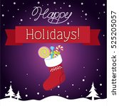 happy holidays | Shutterstock .eps vector #525205057