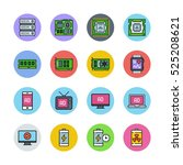 devices icons | Shutterstock .eps vector #525208621
