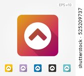 colored icon of up arrow with...
